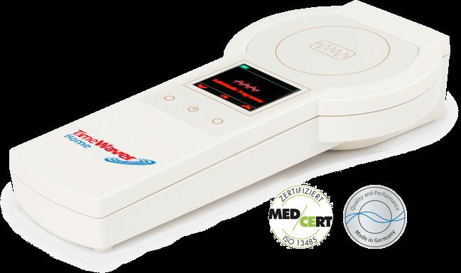 """Das TimeWaver Home-System ist ein kompaktes Behandlungssystem zur individuellen Frequenztherapie. Obwohl es so vielseitig und leistungsfähig ist, kann es mit seinen """"nur"""" drei Knöpfen von Jedermann ganz einfach bedient werden."""